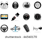 car options  accessories and ... | Shutterstock .eps vector #66560170