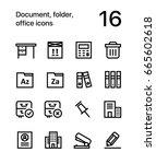 document  folder  office icons... | Shutterstock .eps vector #665602618