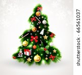 christmas tree vector image | Shutterstock .eps vector #66561037