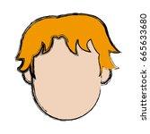 man character head default male ... | Shutterstock .eps vector #665633680