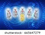 3d people around dollar sign | Shutterstock . vector #665647279
