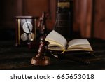 law concept with themis  symbol ... | Shutterstock . vector #665653018