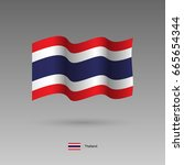thailand flag. official colors... | Shutterstock .eps vector #665654344