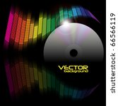 abstract background   equalizer ... | Shutterstock .eps vector #66566119
