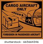 cargo aircraft only   Shutterstock .eps vector #665664346