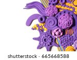 abstraction from plasticine | Shutterstock . vector #665668588
