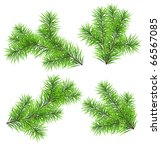 set vector christmas tree... | Shutterstock .eps vector #66567085