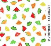 mix fruit graphic design sliced ...