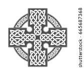 vector celtic cross. ethnic... | Shutterstock .eps vector #665687368