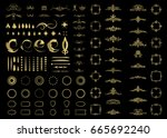 gold vintage decor elements and ... | Shutterstock . vector #665692240
