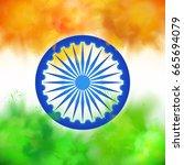 indian themed vector background ...   Shutterstock .eps vector #665694079