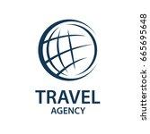 earth planet globe logo for... | Shutterstock .eps vector #665695648