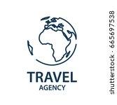 earth planet globe logo for... | Shutterstock .eps vector #665697538