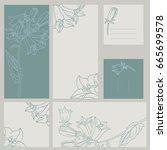 template rustic wedding... | Shutterstock .eps vector #665699578