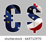 euro symbol destroyed by color ... | Shutterstock . vector #665712970