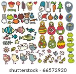 mix of doodle images in vector. ...