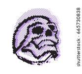 human skull bones skeleton dead | Shutterstock .eps vector #665730838