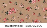 seamless floral pattern in... | Shutterstock .eps vector #665732800