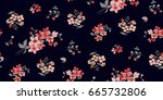 seamless floral pattern in... | Shutterstock .eps vector #665732806