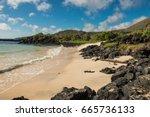 A Landsape View Of A Beach At...