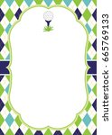 vector card template with a... | Shutterstock .eps vector #665769133