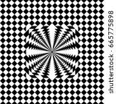 seamless tile with black white...   Shutterstock .eps vector #665775898