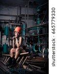 girl in the boiler room  | Shutterstock . vector #665779330
