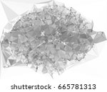 grayscale triangular background ... | Shutterstock .eps vector #665781313
