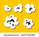 popcorn | Shutterstock .eps vector #665796184
