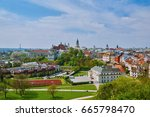 view of old city of lublin ... | Shutterstock . vector #665798470