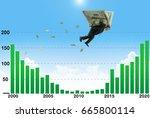 businessman soaring on wings of ...   Shutterstock . vector #665800114