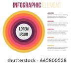 full circle colorful... | Shutterstock .eps vector #665800528