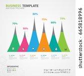 infographics elements diagram... | Shutterstock .eps vector #665818996