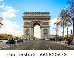 paris  france   april 10  2016  ... | Shutterstock . vector #665820673