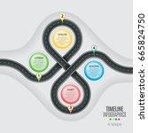 navigation map infographic 4... | Shutterstock .eps vector #665824750