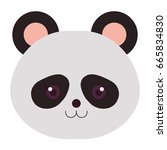 stuffed animal panda | Shutterstock .eps vector #665834830
