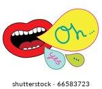 pop art lips. vector... | Shutterstock .eps vector #66583723