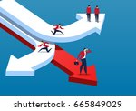 leader | Shutterstock . vector #665849029