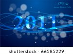 new year waves design vector...   Shutterstock .eps vector #66585229