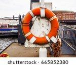 hafencity quarter in the... | Shutterstock . vector #665852380
