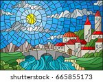 Illustration In Stained Glass...