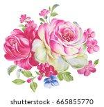 Flower Watercolor Draw Art...