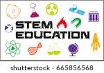 poster design for stem... | Shutterstock .eps vector #665856568