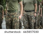military freedom run  clenched...   Shutterstock . vector #665857030