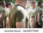 military freedom run  clenched... | Shutterstock . vector #665857084