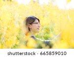 portrait of beauty woman in the ... | Shutterstock . vector #665859010