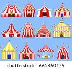 circus show entertainment tent... | Shutterstock .eps vector #665860129