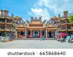 dajia jenn lann temple. the... | Shutterstock . vector #665868640