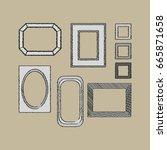 decorative frames. | Shutterstock .eps vector #665871658