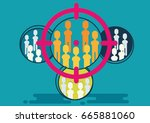 concept of market targeting.... | Shutterstock .eps vector #665881060